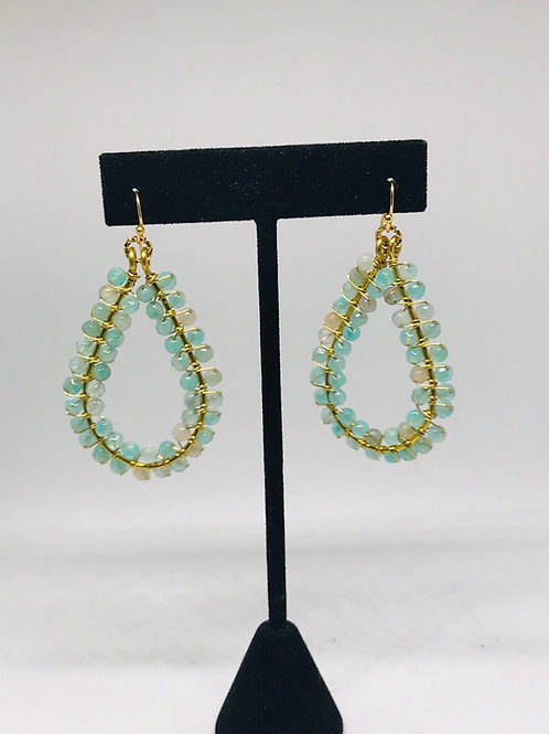 Aqua Earrings