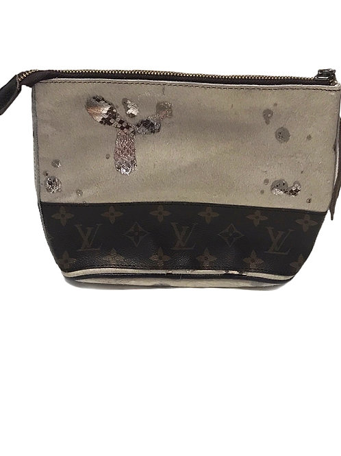 Sm Cosmetic/ Clutch With Upcycled LV