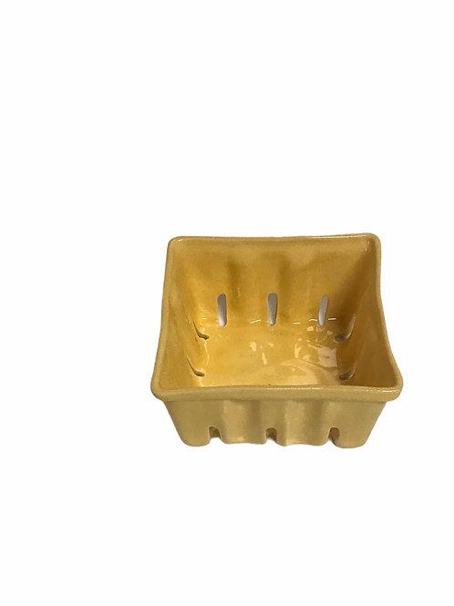 Yellow Ceramic Berry Bowl Lg