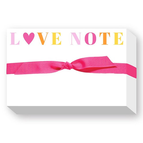 """Big & Bold Notepad """"Love Note"""""""
