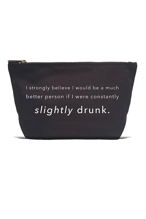 """""""I strongly believe I would be a  much better person if ...: Black Pouch"""
