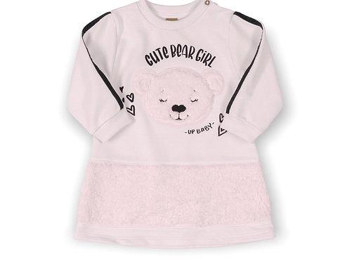 Cute Bear Girl Cream Dress