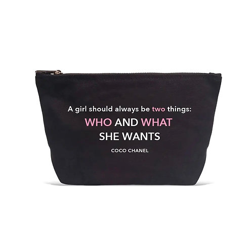 """A girl should be two things.."" Black Pouch"