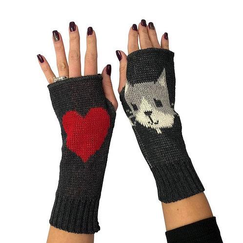 Fingerless Gloves Cat