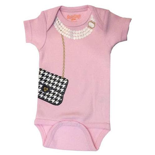 Girls' Houndstooth Bag  Baby Onesie