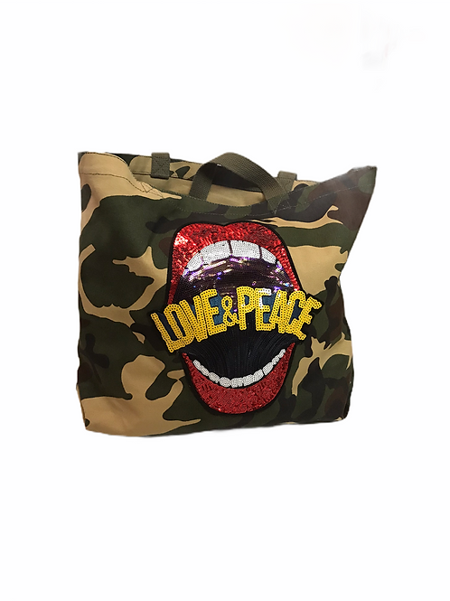 Camo Tote With Patches