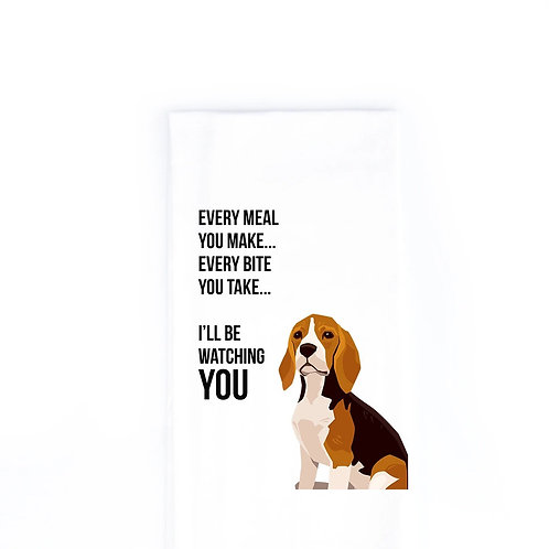 Beagle Dish Towel
