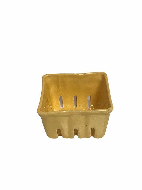 Yellow Ceramic Berry Bowl  Sm