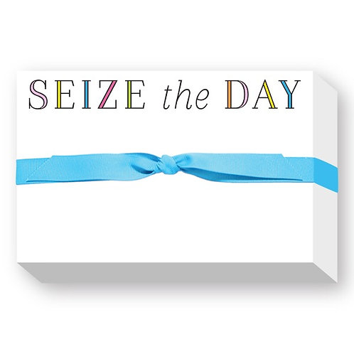 """Big & Bold Notepad """"Seize the Day"""""""