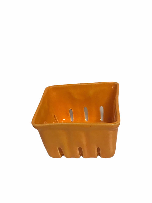 Orange Ceramic Berry Bowl  Sm