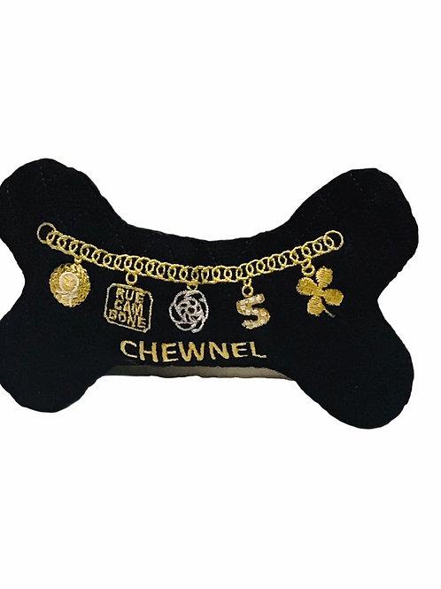 Chewnel Black Bone Dog Toy