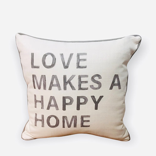 Pillow Love Makes A Happy Home