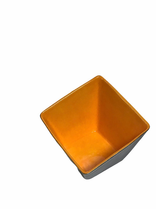Orange Slant Square Bowl