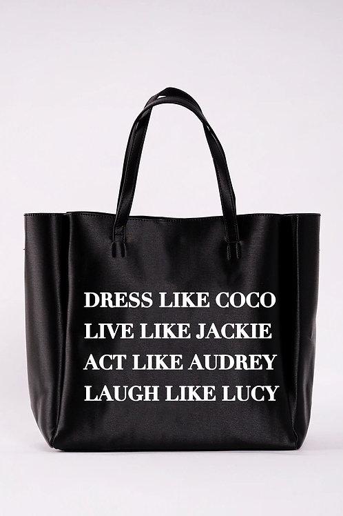NEVER FULL TOTE -Dress Like Coco