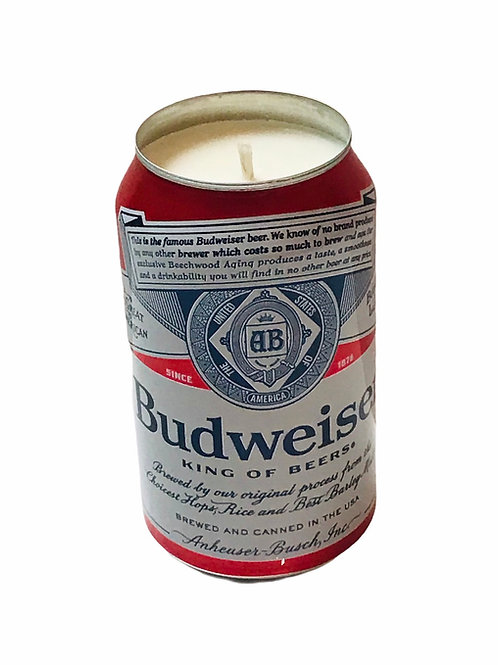 Budweiser Can  Candle
