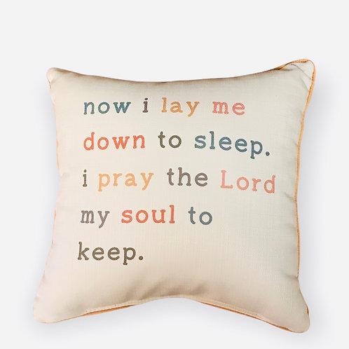 Pillow now I lay me down to sleep