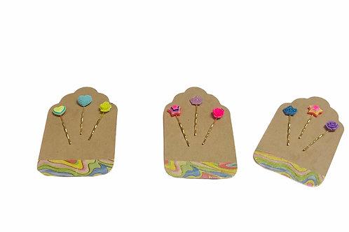 Set Of 3 Bobby Pins