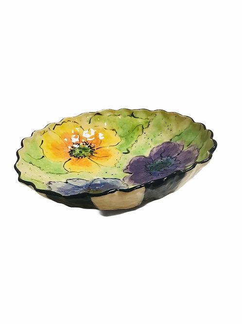 Floral Low Bowl