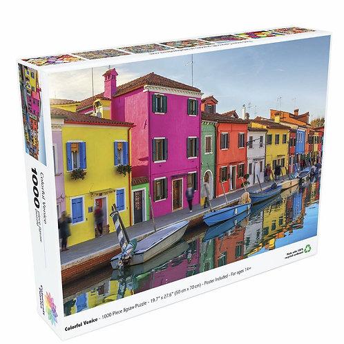 Colorful Venice - 1000 Piece Jigsaw Puzzle