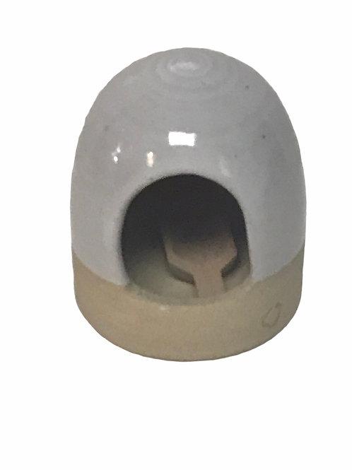 Beehive Sea Salt Cellar with scoop