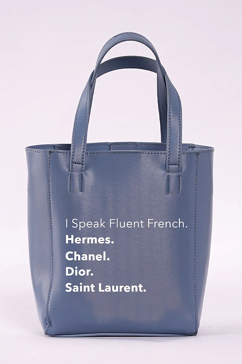 I Speak Fluent French Bucket Bag