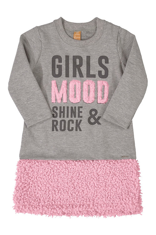 Grey and Pink Dress Girls Mood