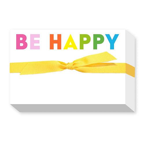"Big & Bold Notepad ""Be Happy"""