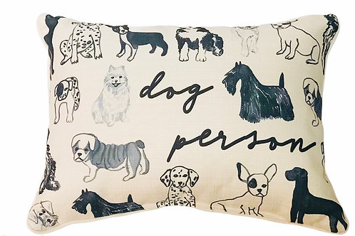 """Pillow """"Dog Person"""""""
