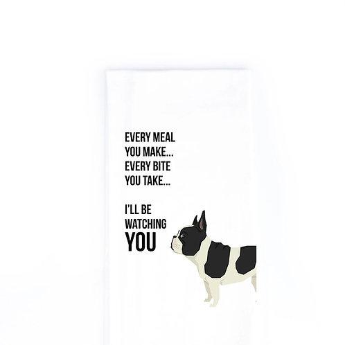Bulldog  Dish Towel