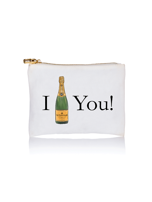I (champagne bottle) You Pouch