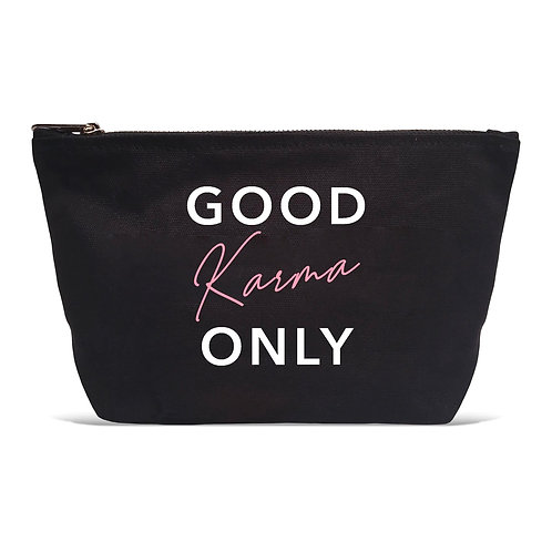"""Good Karma Only"" Black Pouch"