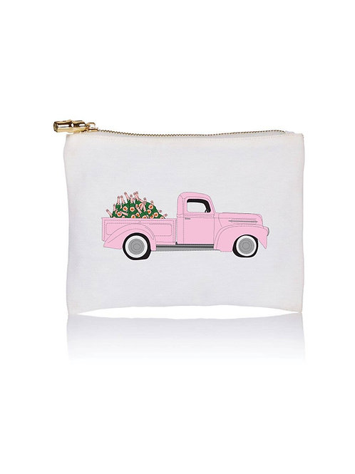Pink Truck With Champagne Bottles Pouch