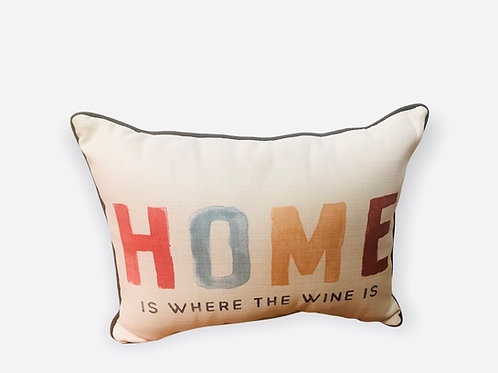 Pillow Home is where the wine is