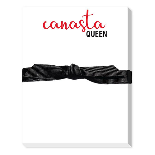 """""""Canasta Queen"""" Large Notepad"""