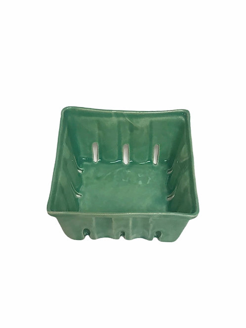 Green Ceramic Berry Bowl