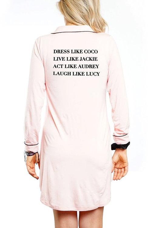 """Dress Like Coco"" Pink Nightshirt"