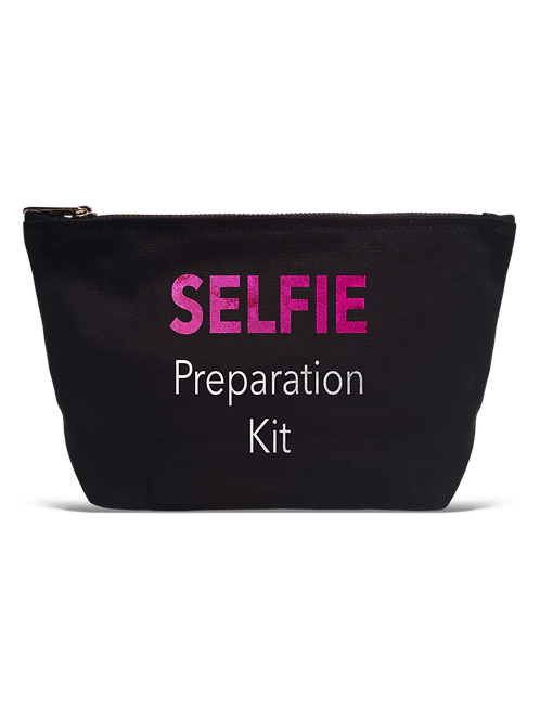 """Selfie Preparation Kit"" Black Pouch"