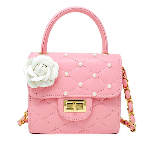 Flower Pearl Bag (Pink)