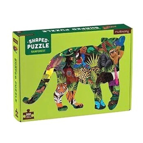 Rainforest 300 Piece Shaped Scene Puzzle