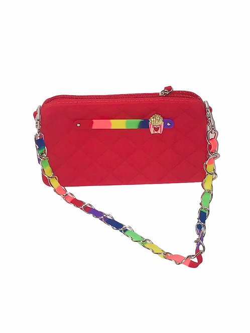 Red Rainbow Chain Purse