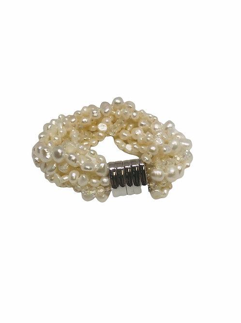 10 Strand Pearl Bracelet