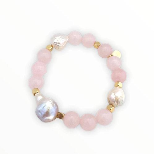 Rose Quartz& Baroque Pearl