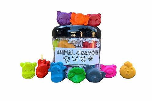 Animal Crayons Jar