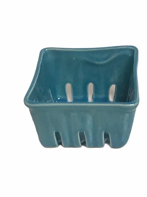 Aqua Ceramic Berry Bowl  Sm