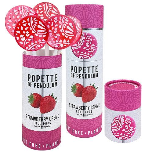 Popette Lollipop: Strawberry & Cream