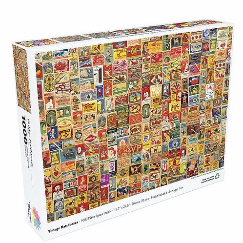 Vintage Matchboxes - 1000 Piece Jigsaw Puzzle