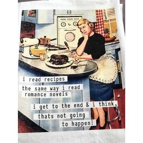 I read recipes the same way I read romance novels. I get to the end & I think...