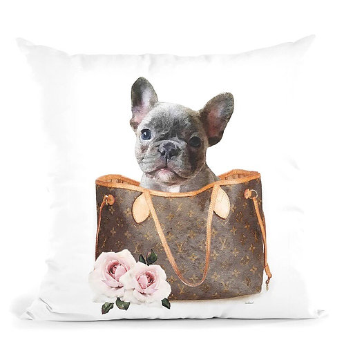 Frenchie In Bag Pillow