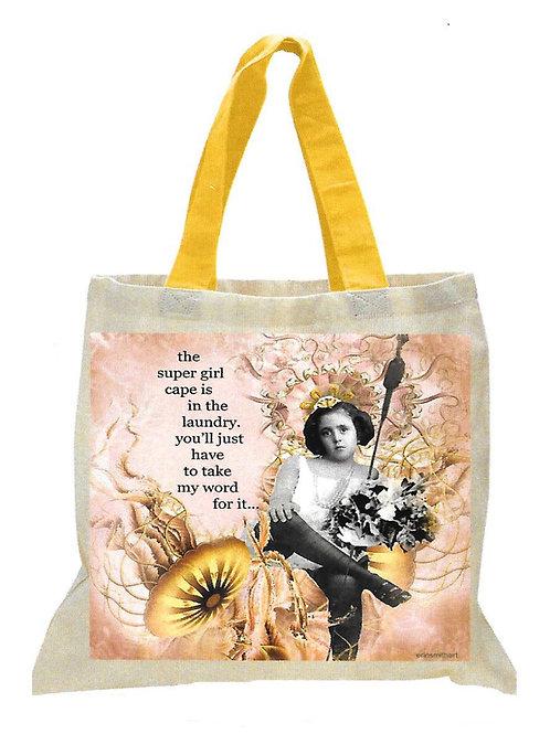 Super Girl Canvas Tote Bag