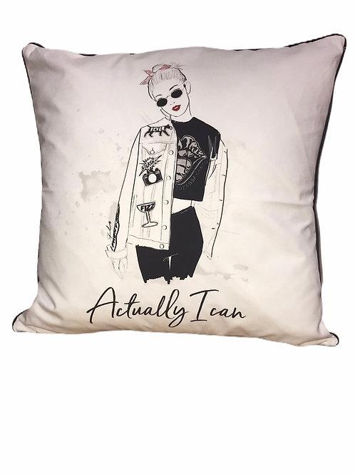 Actually I Can Pillow